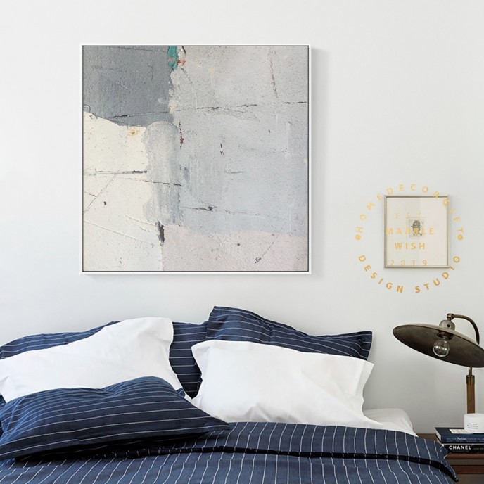 Abstract Art Gray and Beige Minimalist Painting, Original Abstract Painting Art Textured Painting on Canvas, Scandinavian Home Wall Decor