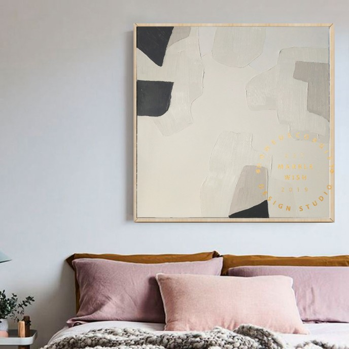 Large Abstract Painting, Nordic Oil Painting, Beige Painting Gray Painting, Original Boho Painting, Minimalist Art, Boho Abstract Painting