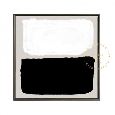 Black and White Abstract Painting, Contemparory Abstract Painting, Black Painting White Painting, Minimalist Painting, Boho Painting