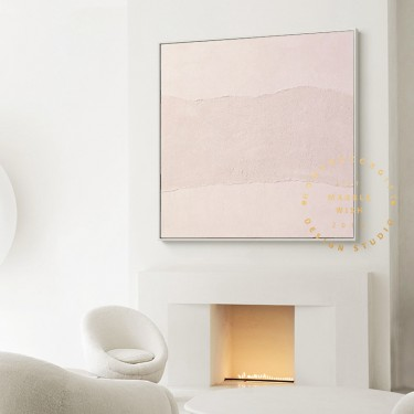 Original Pink Abstract Painting on Canvas, Pink Painting Textured Painting, Minimalist Pink Painting, Minimalist Art, Pink Bedroom Wall Art