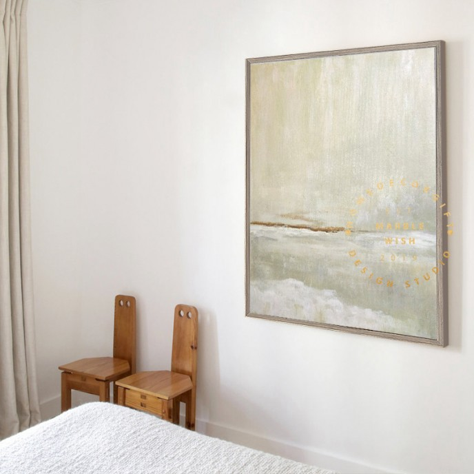 Large Abstract Canvas Art, Extra Large Abstract Painting, Green Painting Landscape Painting, Abstract Sea Painiting, Large Room Wall Art