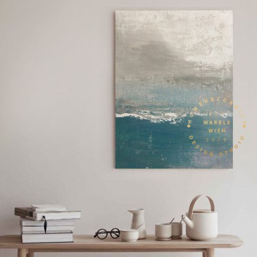 Extra Large Canvas Wall Art Abstract Huge, Turquoise Blue Painting Gray Painting Abstract, Large Living Room Canvas Art, Modern Paintings