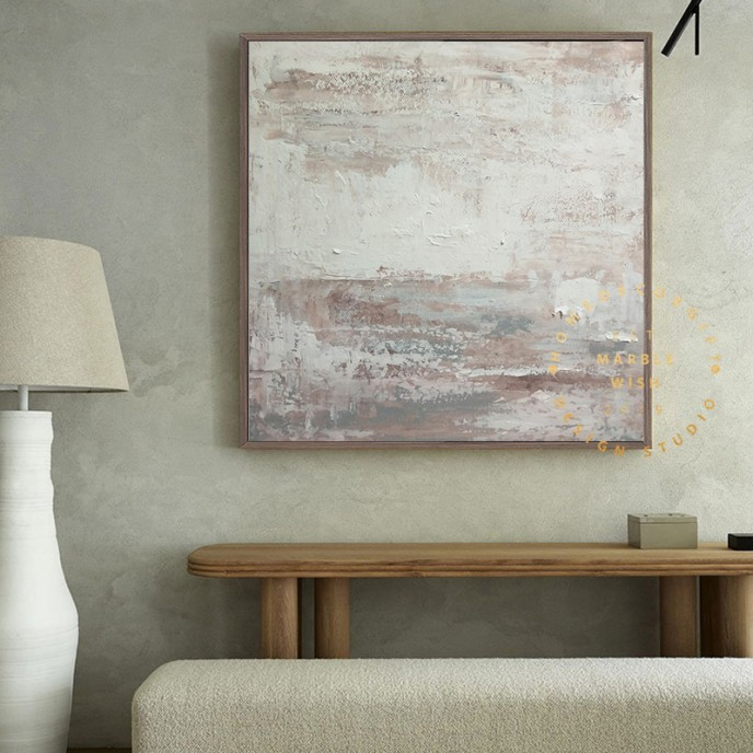 Brown Abstract Canvas, Large Abstract Painting for Living Room, Landscape Abstract Art for Boho Interior, Brown Abstract Brown Painting
