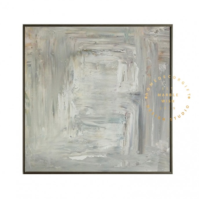 Gray Abstract Wall Art, Gray Abstract Canvas Art, Large Original Abstract Painting for Living Room, Neutral Painting Wall Art, Gray Wall Art
