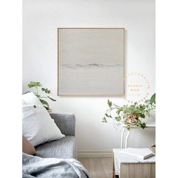 Extra Large Abstract Canvas Art, Minimalist Oversize Abstract Wall Art, Cream Painting Beige Painting,Neutral Abstract Art, Minimal Painting