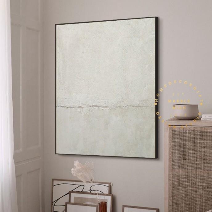 Large Neutral Abstract Canvas Art Scandinavian Wall Art Textured Art Minimal Painting Gray Painting White Painting Japandi Abstract Painting