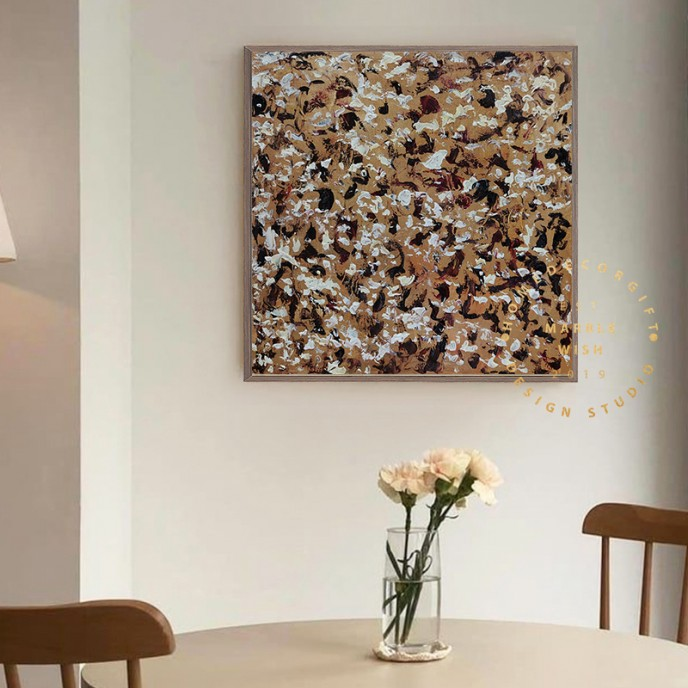 Canvas Abstract Art Brown Abstract Painting Brown Painting Antique Painting Modern Painting on Canvas Art Canvas Painting for Living Room