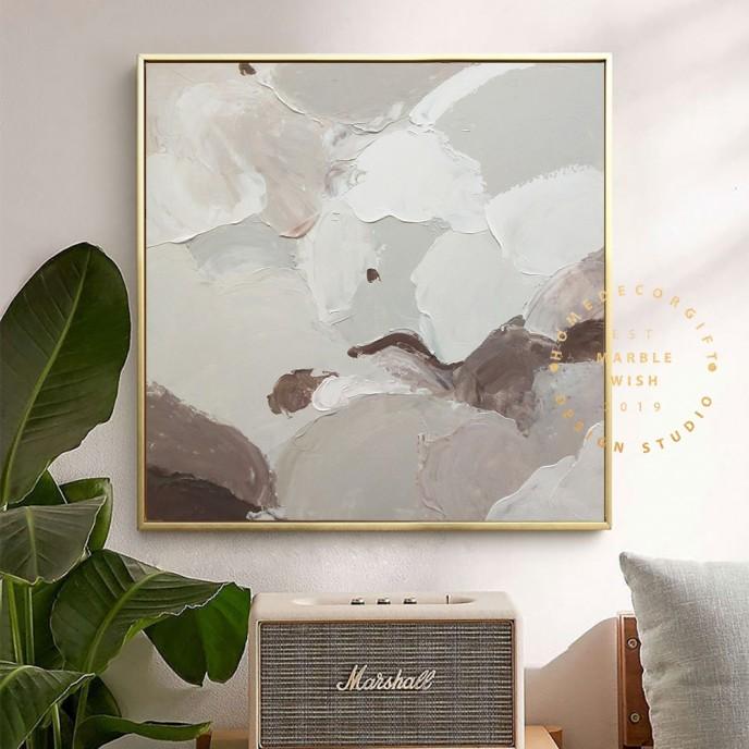 Large Canvas Abstract Painting Original Abstract Wall Art Brown Painting On Canvas Abstract Wall Art Modern Living Room Art Texture Art
