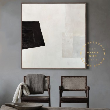 Large Modern Art, Canvas Abstract Art, White Painting Beige Painting Gray Painting, Neutral Abstract Painting Antique Wall Art Minimal Art