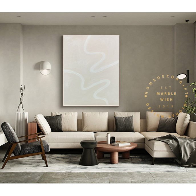 Large Beige Painting, Oil Paintings on Canvas, Large Original Wall Mural Painting, Abstract Beige Painting, Modern Wall Art for Living Room