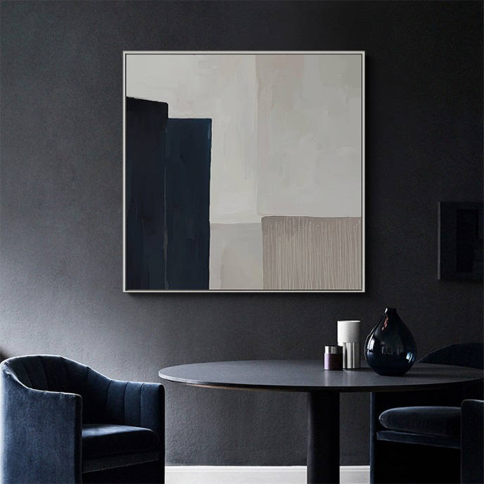 Marble Wish Handmade Abstract Oil Painting