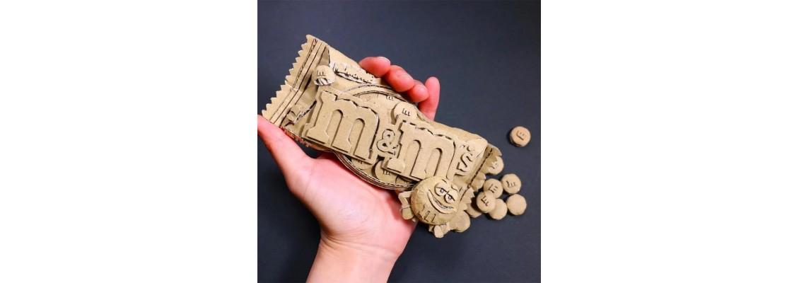 Japanese artist Monami Ohno cardboard art