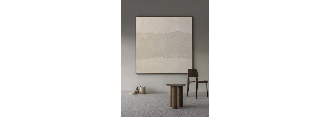 Fine Textured Convex and Concave Abstract Art on Canvas